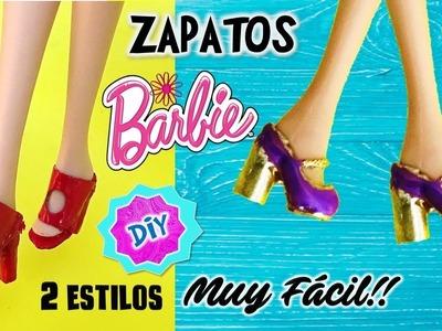 Como hacer  ZAPATOS para MUÑECAS Barbie muy FÁCIL! MANUALIDADES PARA MUÑECAS