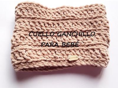 CUELLO DE LANA A GANCHILLO ( CROCHET)