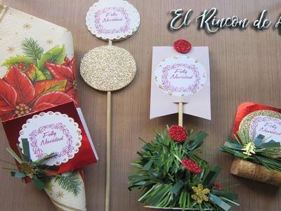 Decoracion para mesa navideña. Detalles para decorar tu mesa - diy manualidades