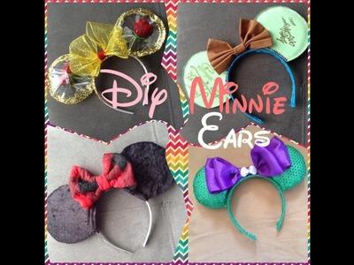 DIY: 3 Diademas de Minnie. 3 Minnie's ears I Graciela Lozano