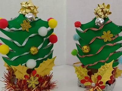 DIY:Arbolito de Navidad hecho con cajita de refresco  Mini Christmas Tree  미니 크리스마스 트리