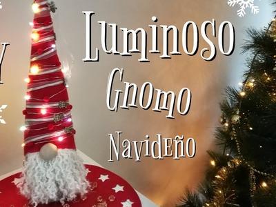 DIY Como hacer GNOMO NAVIDEÑO LUMINOSO | Adornos navideños 2019 | LAMPARA GNOMO NAVIDEÑO |