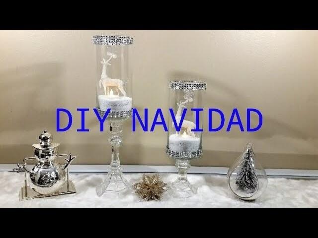 DIY Como hacer lujosos candelabros de cristal para navidad.How to make luxurious crystal chandeliers