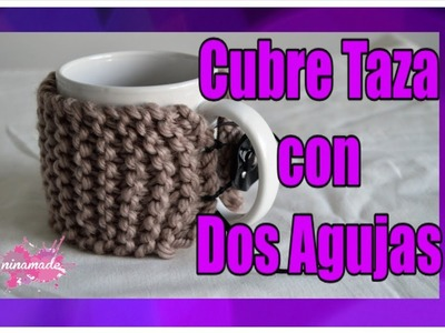 DIY. Como Tejer Un Cubre Taza.Covers Cup Knitting