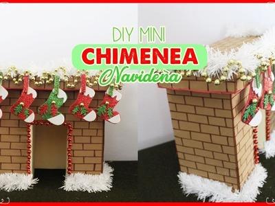 DIY MINI chimenea navideña. hecha con carton. Fireplace