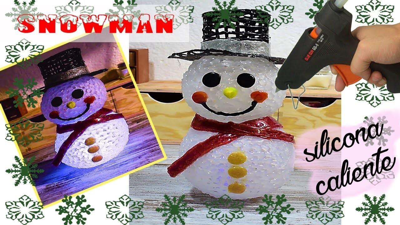 Diy Navidad ☃️ Muñeco de nieve con silicona caliente