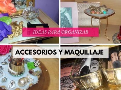 DIY PARA ORGANIZAR ACCESORIOS Y MAQUILLAJE | 4 IDEAS | ALYSBOOK