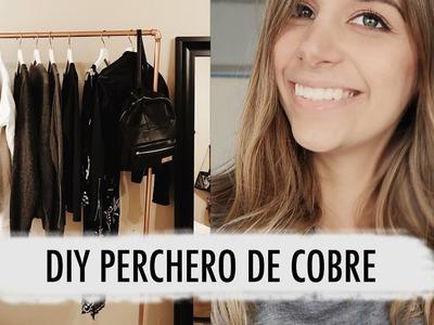 DIY PERCHERO DE COBRE MENOS DE $500 PESOS | Daniela