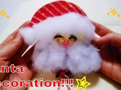 DIY:Santa de fieltro con imán para la nevera| Fácil de hacer| Christmas Deco Santa Fridge Magnet