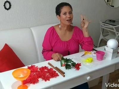 DIY - Topiaria de Natal com pérolas