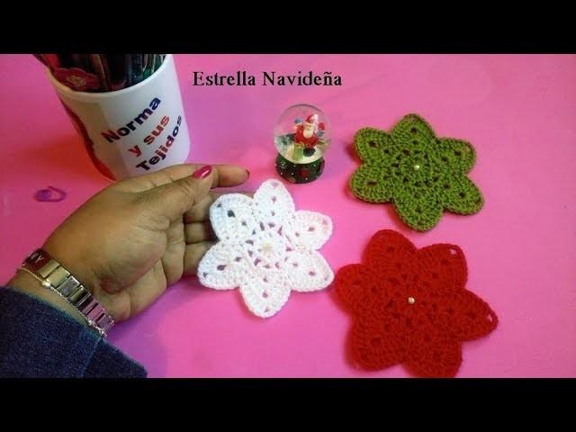 Estrella Navideña a crochet parte 1