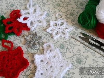 ESTRELLAS NAVIDEÑAS Tejidas a  Crochet (parte 2 de 2)