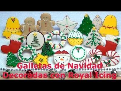 Galletas de Navidad Decoradas con Royal Icing o Glass - Club de Reposteria