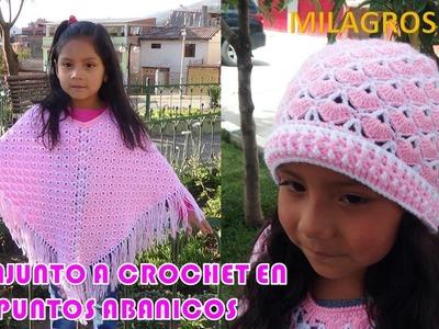 Gorro a Crochet en PUNTO ABANICOS con indicaciones para cualquier edad PASO A PASO