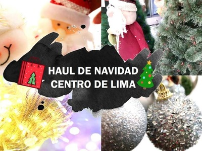 HAUL DE NAVIDAD CENTRO DE LIMA. MERCADO CENTRAL