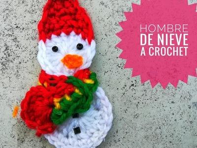 """¡Cómo hacer un hombre de nieve tejido a crochet! """"snowman ornament crochet"""""""