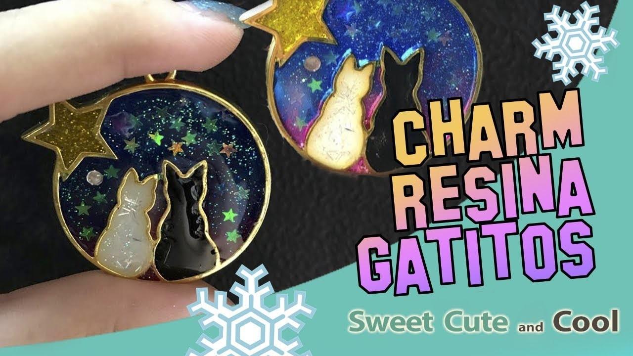 Idea para regalar en Navidad! Colgante fácil con resina!