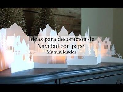 Ideas para decoración de Navidad con papel, manualidades