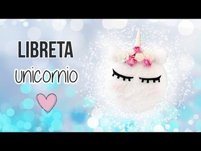 LIBRETA UNICORNIO ???? DIY, Macarron de Unicornio cuaderno!!