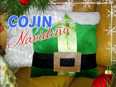 Manualidad navideña - como hacer un Cojin Navideño - DIY