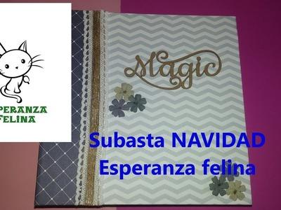 Mini álbum hecho a mano para subasta NAVIDAD 2017 Esperanza felina - SCRAPBOOKING