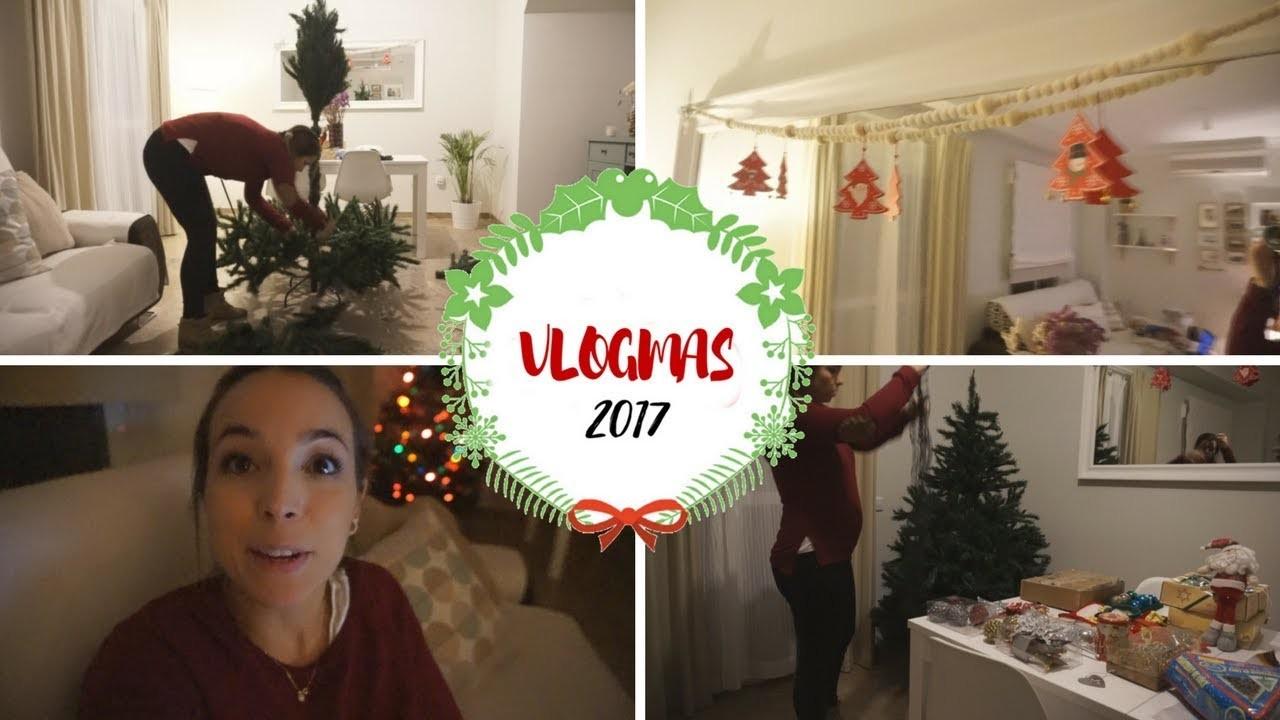 ????Montando el árbol de navidad???? + DIY Guirnalda navideña fácil ????| Dolor de ombligo???? | VLOGMAS ❄️6 DIC