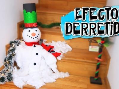 Muñeco de nieve derretido | Manualidades fáciles para Navidad