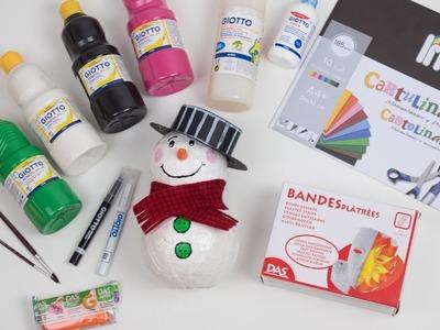 Muñeco de nieve navideño | Manualidades para navidad
