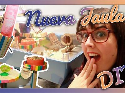 NUEVA JAULA! | DIY Bebedero, juguetes y segunda planta | HAMSTER
