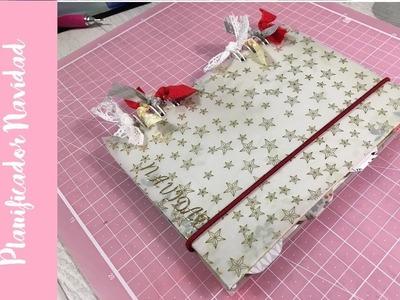 Planificador de Navidad con separadores. Christmas planner with folders.
