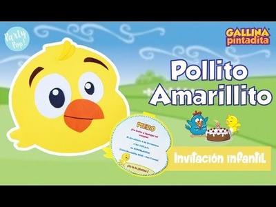 Pollito amarillito ???? - Invitación de cumpleaños + Moldes DIY | Party pop DIY!???? |