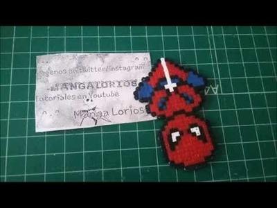 Spiderman hama beads mini