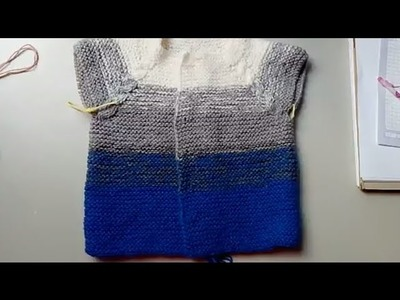 Suéter matizado #2 en dos agujas - introducción
