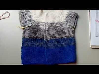 Suéter matizado en dos agujas #2 - segunda parte