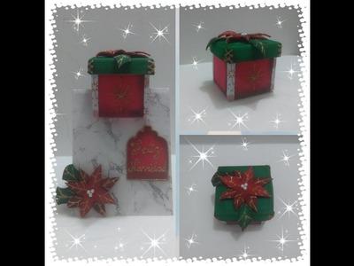Tarjeta navideña, gift box in a card,tarjeta en foami, manualidades navideñas, 15 ideas para navidad