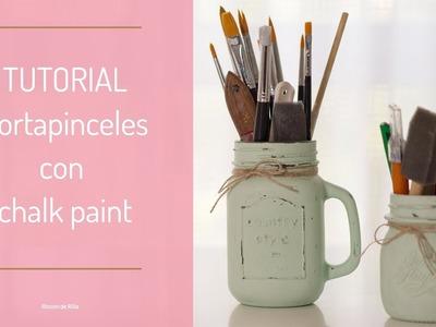 Tutorial Bote Portapinceles con Chalk Paint. Probando la pintura Chalk de MP.