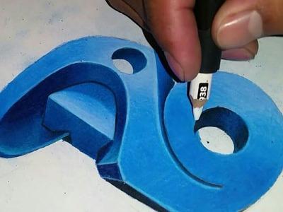 Tutorial como meter los colores en una letra en 3D  |How to make a 3D letter 2017