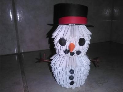 Tutorial de como hacer un muñeco de nieve en Origami 3D