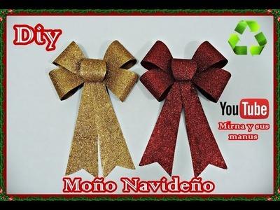 Adorno Navideño (Moño navideño)  Mirna y sus manus. Christmas Bow