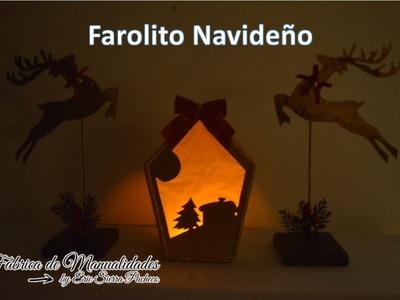 Adornos Navideños. Farolito de Cartón. Christmas decorations. Cardboard lantern.