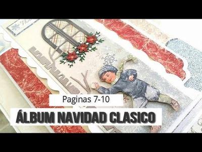 ALBUM NAVIDAD CLÁSICO (PARTE 3 - PAGINAS 7-10)  - TUTORIAL | LLUNA NOVA SCRAP