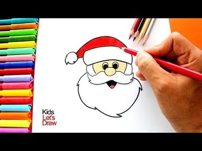 Aprender a dibujar a PAPA NOEL muy fácil | How to draw Santa Claus very easy!