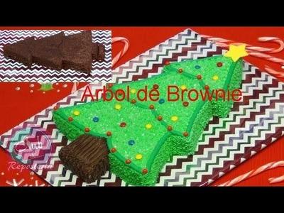 Arbol de Brownie para Navidad - Club de Reposteria