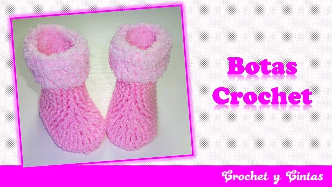 Botas o zapatos flecos de nieve tejidos a crochet para bebés ???? Parte 1 de 2