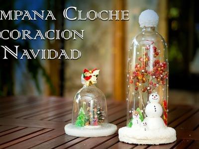 Campana Cloche Decoracion de Navidad con Hombre de Nieve