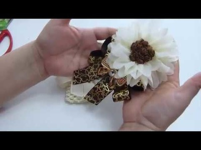 Como decorar Flores de liston, Accesorios para el cabello,Hair Accessories