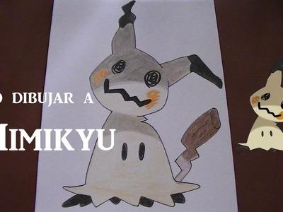 Como dibujar.pintar a Mimikyu - Pokemon