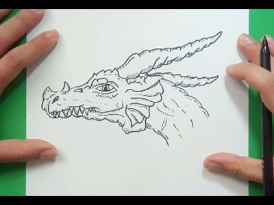 Como dibujar un dragon paso a paso 18 | How to draw one dragon 18