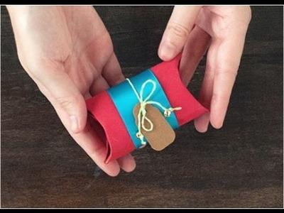 Como hacer adorno navideño con tubos de papel higienicos #1