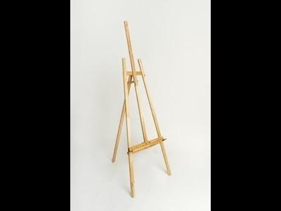 Como hacer caballete, atril, tripode para pintura (DIY - 1ª Parte - Preparacion de madera y planos)